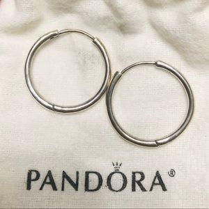 Pandora Stirling Silver Hoop Earrings